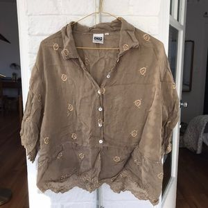 Johnny Was vintage embroidered blouse